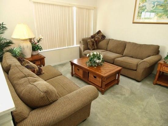 Sofa in Den - WHA5P537WP 5 Bed Home Rental near Disney World - Davenport - rentals