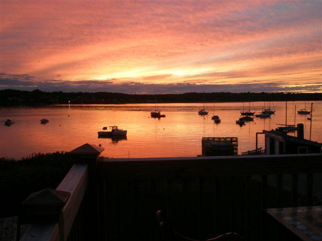 sunset from your deck - The Shorehouse on Harpswell Sound - Orrs Island - rentals