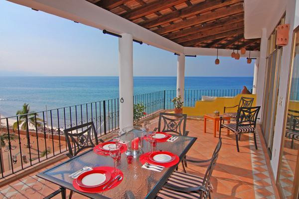 Dine On The Terraza Morning And Night. Wonderful! - Penthouse Of The Dolphins-Oceanfront Luxury! - Puerto Vallarta - rentals
