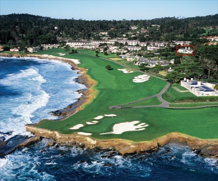 location highlighted in red-next to the Lodge at Pebble Beach - Stay in Private Home Next to Pebble Beach Lodge! - Pebble Beach - rentals