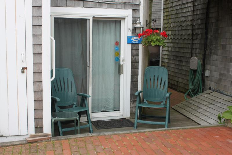 Outside sitting area - 1st floor studio  #18 steps from the waterfront - Provincetown - rentals