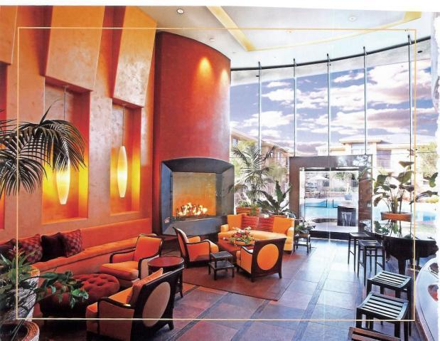 elegant fireplace in club house - Gorgeous North Scottsdale Upscale Vacation Condo - Phoenix - rentals