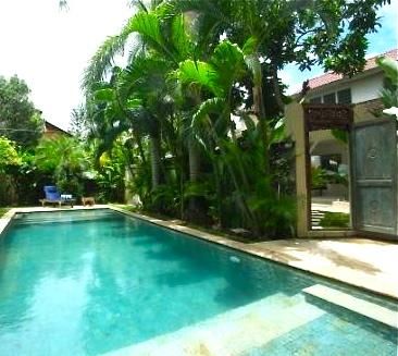 Swimming pool and through door to villa and garden - Taman Villa large family villa & child safe pool. - Seminyak - rentals
