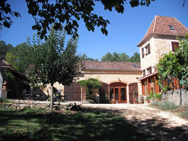The courtyard, garden & buildings, approached from the fields - Fraysse Haut near Montcabrier & Puy l'Evêque (Lot) - Montcabrier - rentals