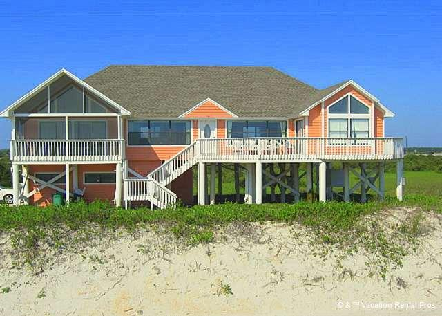Picture yourself standing on the deck of White Sand. - White Sand Beach House, Direct Ocean Front, Sunrise & Sunsets - Saint Augustine - rentals