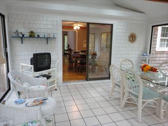Three Season Sunroom with waterview - West Yarmouth Vacation Rental (100566) - West Yarmouth - rentals