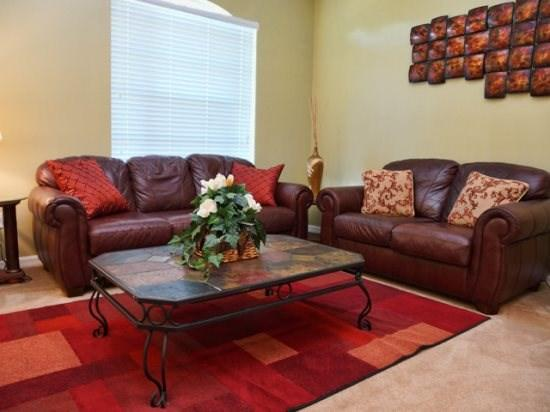 Living Area - GB4P16701RGD 4 BR Cozy Pool Home Near Orlando Attractions - Four Corners - rentals