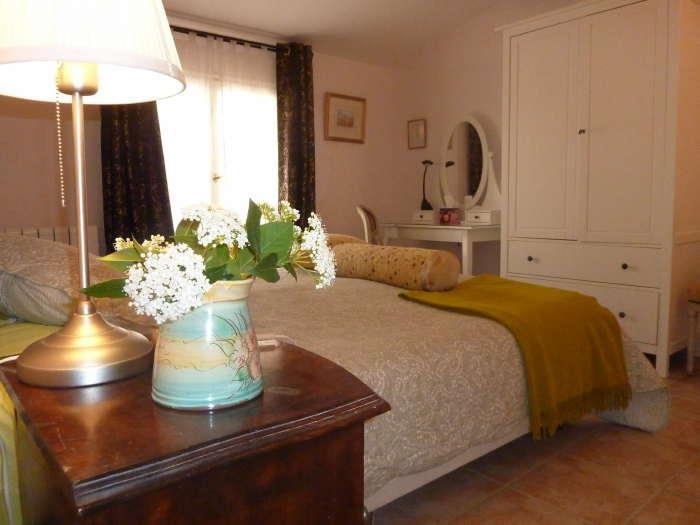 Sunflower, facing armoire and dressing table - Family B&B Suite in Classic French Village Home - Montblanc - rentals