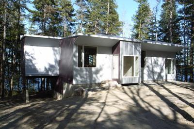 View of house from street side.  Lake and woods in rear. - Maine Goes Modern! Best Value. - Ellsworth - rentals