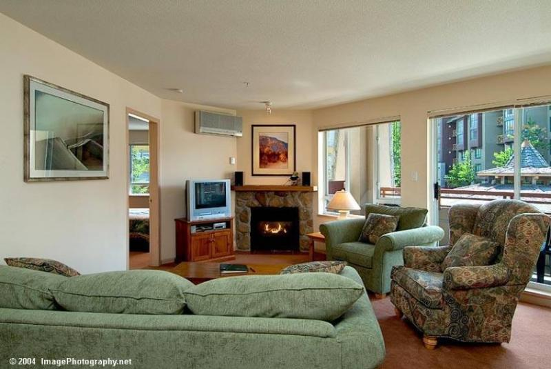 Living Room from Dining Area - Deluxe Eagle Lodge Condo - Whistler - rentals