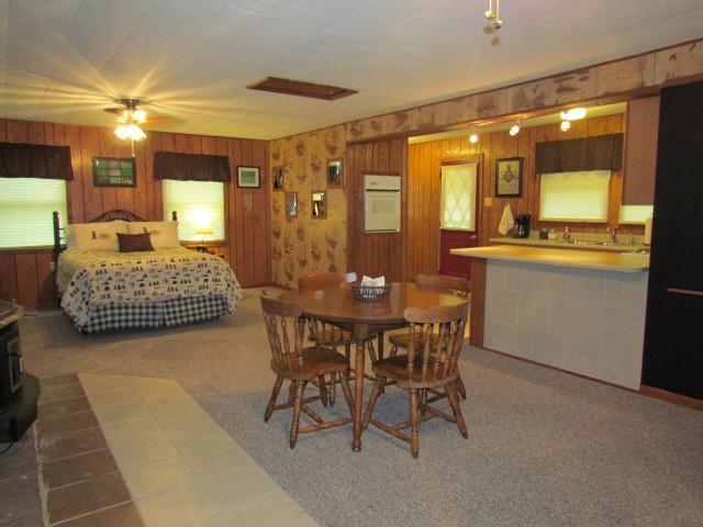 (Bridge Cabin), 1 queen bed, 1 sofa sleeper / No dogs allowed -- sleeps 2 adults 2 kids or 2 couples - Kishauwau Cabins near Starved Rock Utica IL SmlFam - Utica - rentals