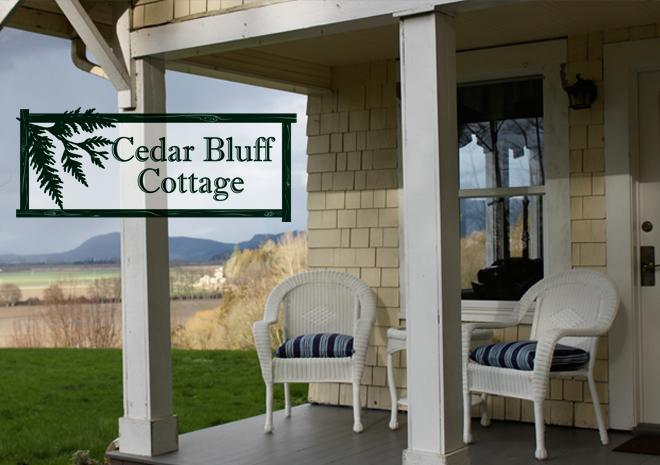 Relax  while enjoying the sound view from the porch - Cedar Bluff Cottage - Stanwood - rentals