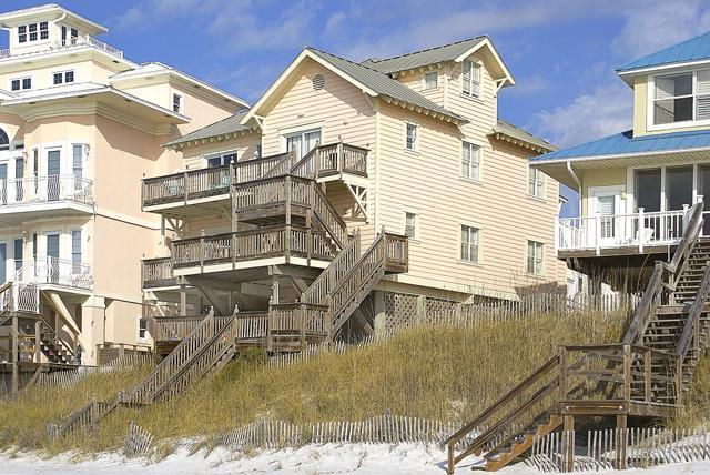 A View of Dolphin Watch from the ocean - Dolphin Watch: Gulf Front: 3 Bedroom & 2 Baths - Seagrove Beach - rentals