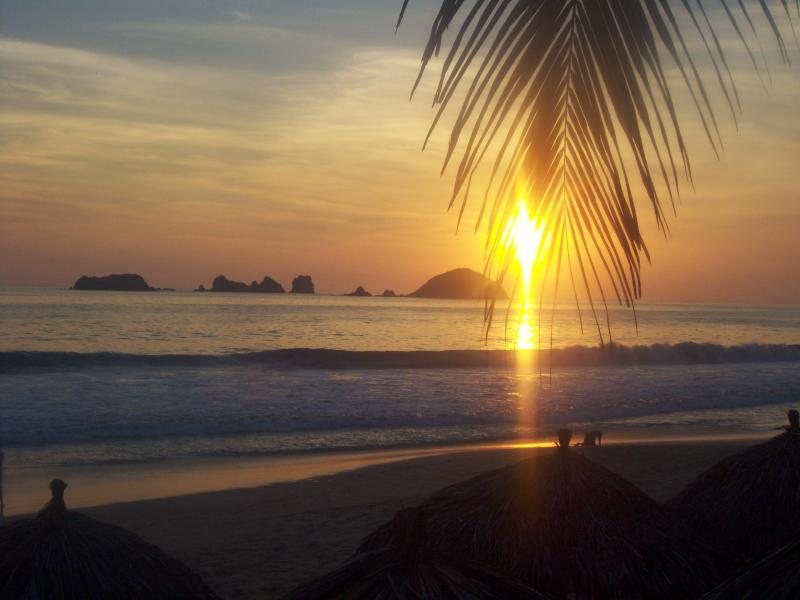 ....yes, one of those daily breathtaking sunsets that will make you forget everything else as it retires for the night - Life's a Beach!......***Early Booking Discount*** - Ixtapa - rentals