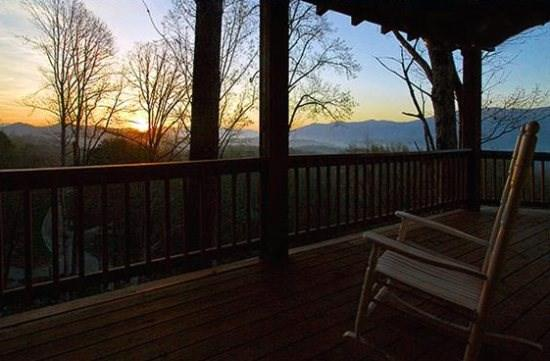 Enjoy the Porch Any Time of Day - Black Bear Crossing - Upscale 3 Bedroom Minutes from Deep Creek and the Train with Dazzling View, Hot Tub, Internet, Xbox 360 - Bryson City - rentals