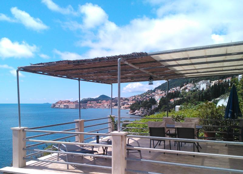 Terrace view - Waterfront 2bedroom condo with view of Old Town - Dubrovnik - rentals