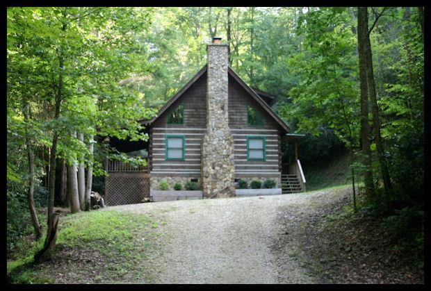 The Hidaway Cabin / very private - Private Log Cabins The HideAway Cabin, lake access - Bryson City - rentals