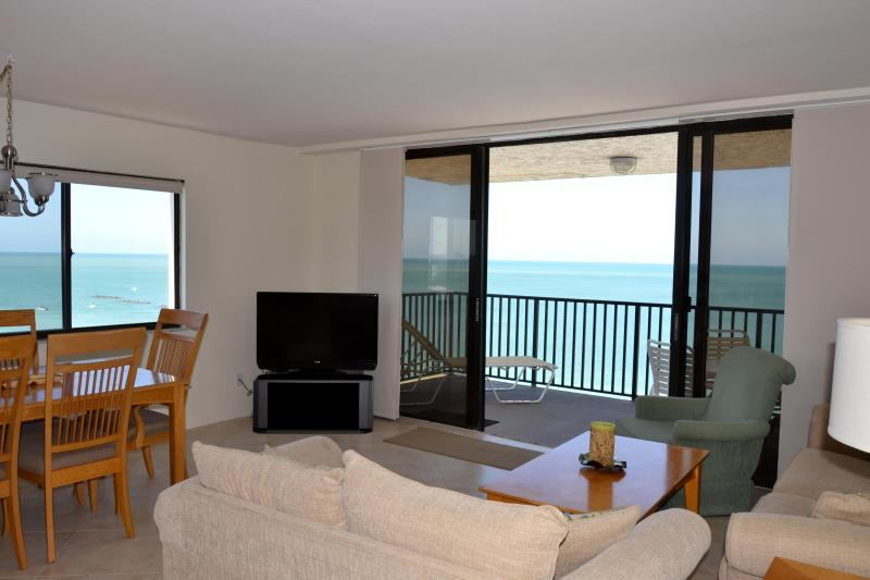 Views south and west from living/dining rooms - Sea Winds. Enjoy Spectacular Marco Island Sunsets - Marco Island - rentals