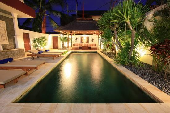 Looking down the pool from the Outdoor Dining Room - Villa D'Va 1b, 4/6 Bedroom, Luxurious, Pool Fence - Seminyak - rentals