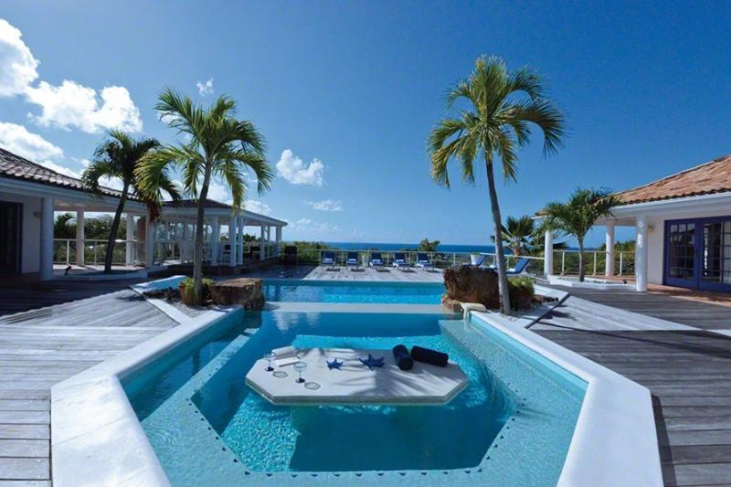 St. Martin Villa 30 Enjoy Gazing Out Into The Beautiful Blue Ocean And Saba From The Huge Wooden Deck. - Image 1 - Terres Basses - rentals