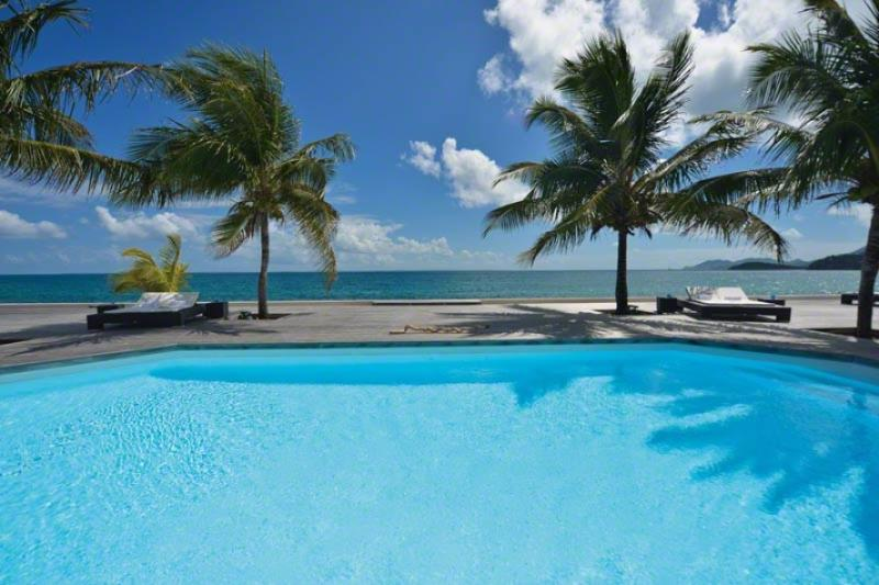 Interlude ...Baie Rogue beach, St Martin 800 480 8555 - INTERLUDE... Spacious, Elegant, BEACHFRONT St Martin rental villa - Baie Rouge - rentals