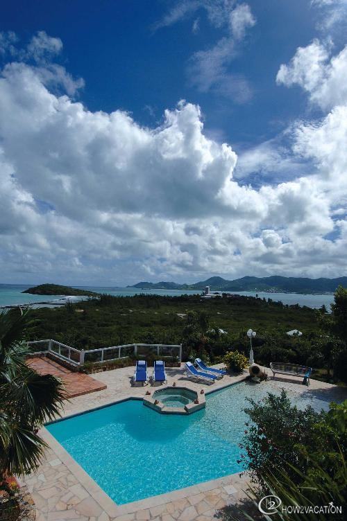 LA SIESTA...French St Martin...Pool with ocean views of Marigot & Nettle Bay - LA SIESTA...Just a few minutes walk to lovely Bay Rouge beach. - Saint Martin-Sint Maarten - rentals