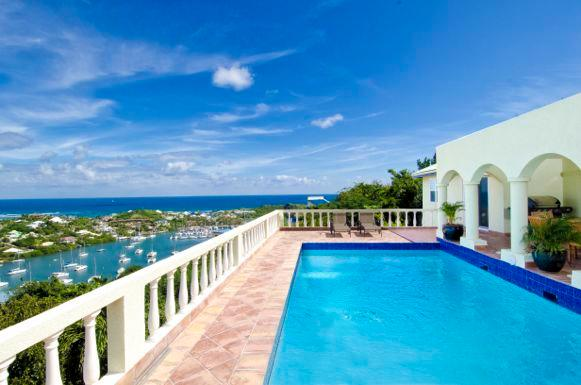 Arcadia, Oyster Pond, St Maarten - ARCADIA... charming hillside villa... wonderful views of the sea and marina... - Oyster Pond - rentals