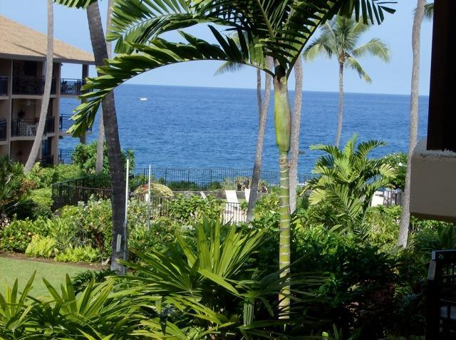View From the Lanai - Ocean Front Kona Makai Furnished 1 bedroom Condo - Kailua-Kona - rentals