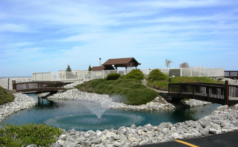 View from open balcony off of living room. - 2 Bedroom, 1 1/2 Bath Condo with Great Lake View! - Port Clinton - rentals