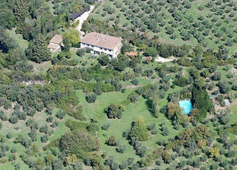 aerial view. - Florence countryside independent apt. with pool - Fiesole - rentals