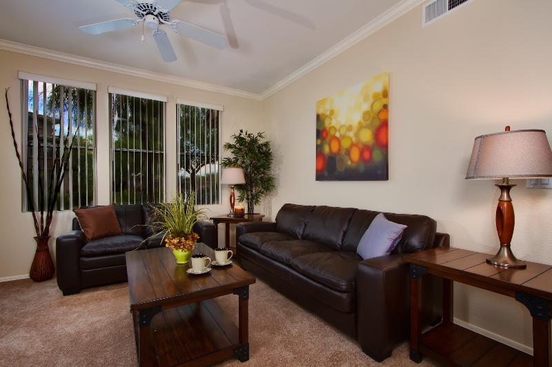 Spacious living room with HD TV! - Great Location, Unbeatable Value! Scottsdale Condo - Scottsdale - rentals