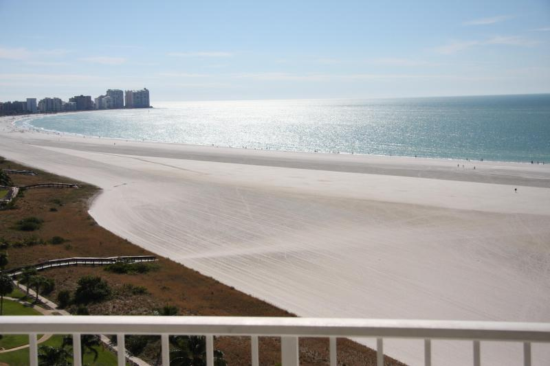 View of beach from balcony - ON THE BEACH 2BED/2BATH CONDO,FREE WIFI, HUGE POOL - Marco Island - rentals