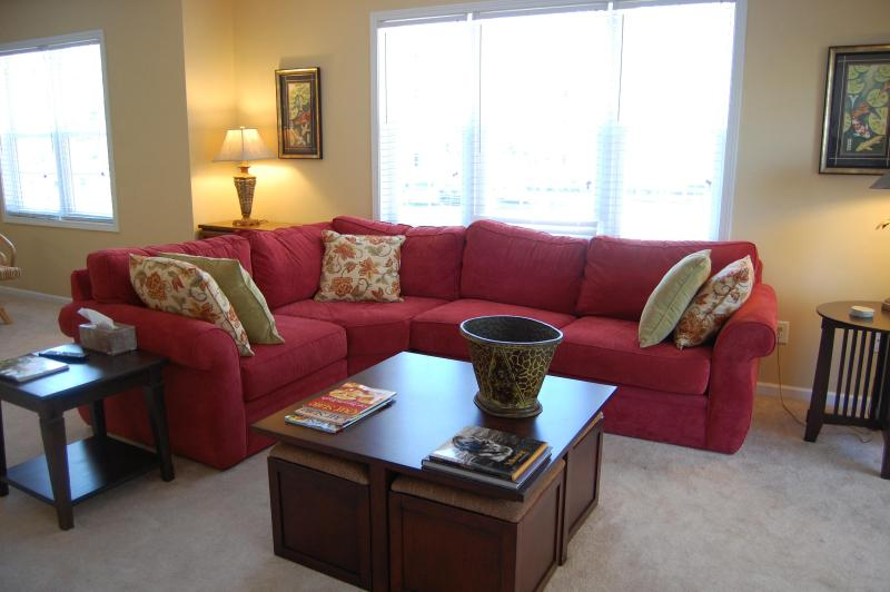 You WILL fall asleep on this sofa! - Availabilty for Winter Escape to Ocean Keyes - North Myrtle Beach - rentals