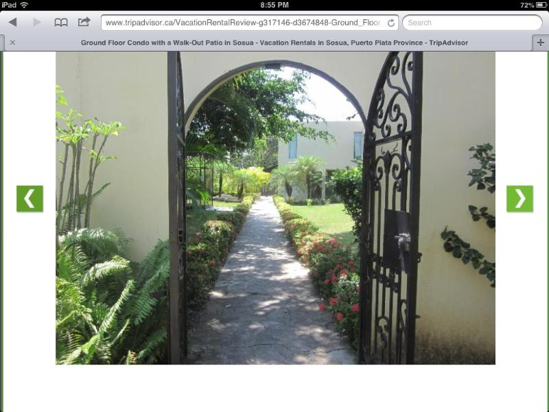 The gate welcomes you!!! - WOW...Beautiful Gardens! Awesome Location! - Sosua - rentals