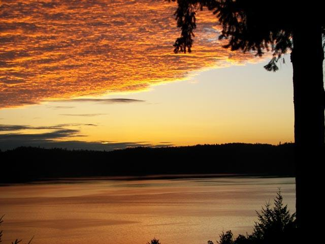 Sunrise from Suncrest B&B - See the Ocean from Bed and Bath at Suncrest Cottage B&B - Salt Spring Island - rentals