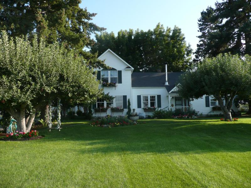 Exterior, Hugh lawns & pasture.Fruit trees dotted in the lawn & flowers everywhere (In season) - Cozy Rose Inn - Grandview - rentals