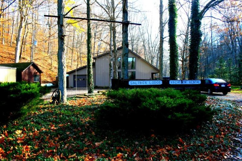 The Saltbox Lodge, (website: hidden) & beam woodland cabin - Image 1 - Shoals - rentals