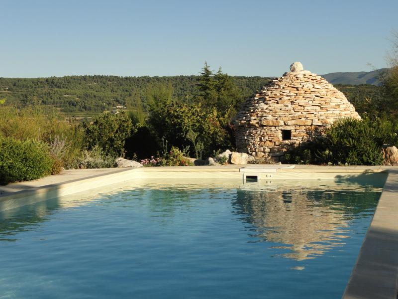 view of the pool - Cabanon in Provence - Saint-Saturnin-les-Apt - rentals