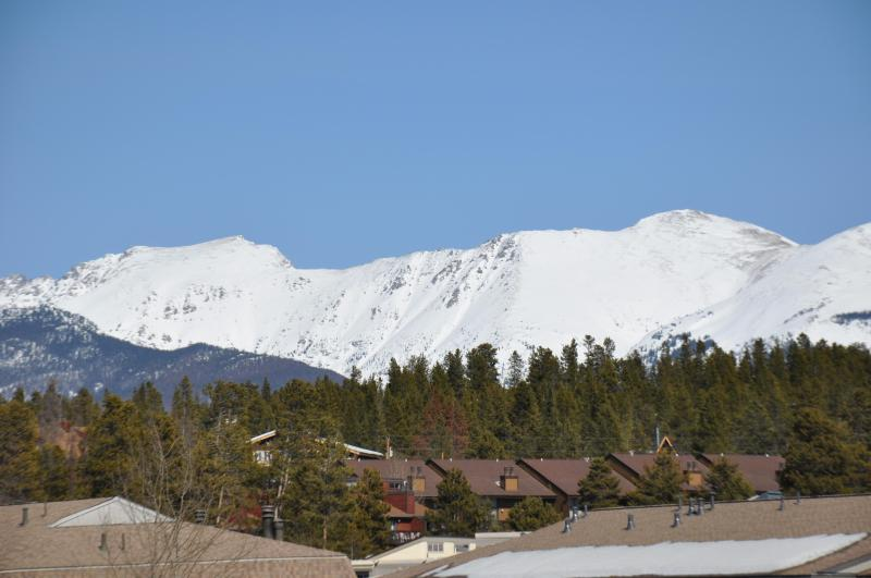 View of Indian Peaks from the Living Room - 3BR Ski Condo~ Mountain View~Fabulous Health Club~ - Fraser - rentals