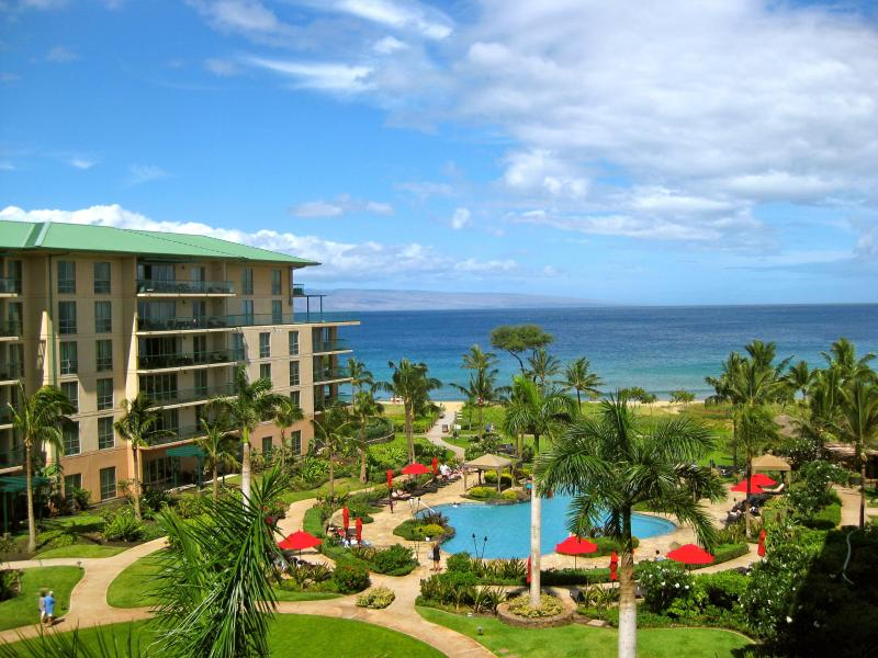 View from lanai (no zooming here) - Come Stay at Maui's Best Resort - Best Ocean View! - Lahaina - rentals