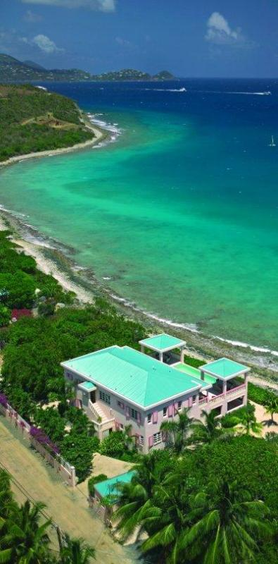 Aerial view of the property - Villa Sea Star, on the beach! 3 white sand beaches - East End - rentals