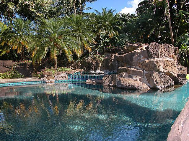 Spectacular Lava Rock Resort Pool - Estate WIth Pool, Hot Tub, Ocean & Sunset Views - Princeville - rentals
