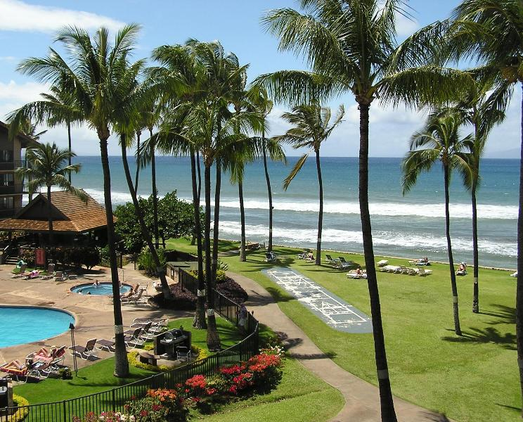 Gorgeous oceanviews from our furnished lanai off the living room - **CALL FOR AVAILABILITY & RATES** 3BDRM Oceanview - Kaanapali - rentals