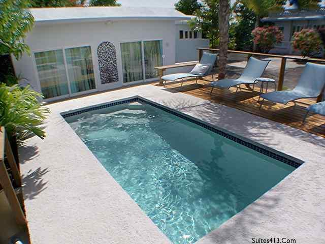 Pool front Suite 4 - Suites at 413 by Beach City 2010, Rincon PR - Rincon - rentals