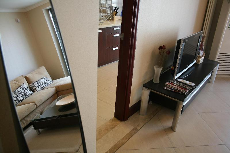 Living room - 2BD 1BTH (2Beds) Beijing CBD Western Managed Serviced Apartments #2 - Beijing - rentals