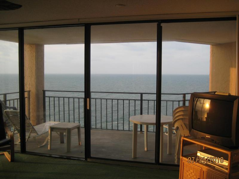 Balcony.  - Unique!  Floor to Ceiling Oceanfront Windows - Garden City Beach - rentals