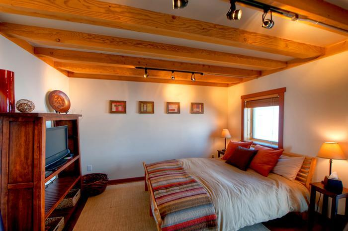 Cozy Bedroom with timbered ceiling - Timber Framed Cabin w/ Gorgeous Mountain Views! - Bozeman - rentals