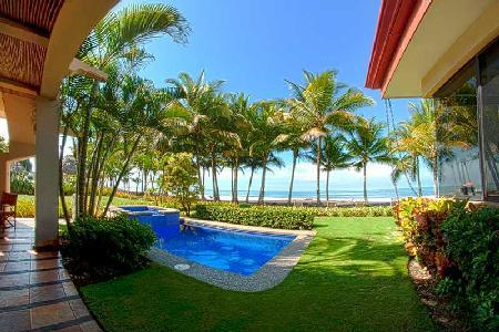 La Costa villa right on black sand beach ideal for surfing with plunge pool & daily housekeeping - Image 1 - Playa Hermosa - rentals