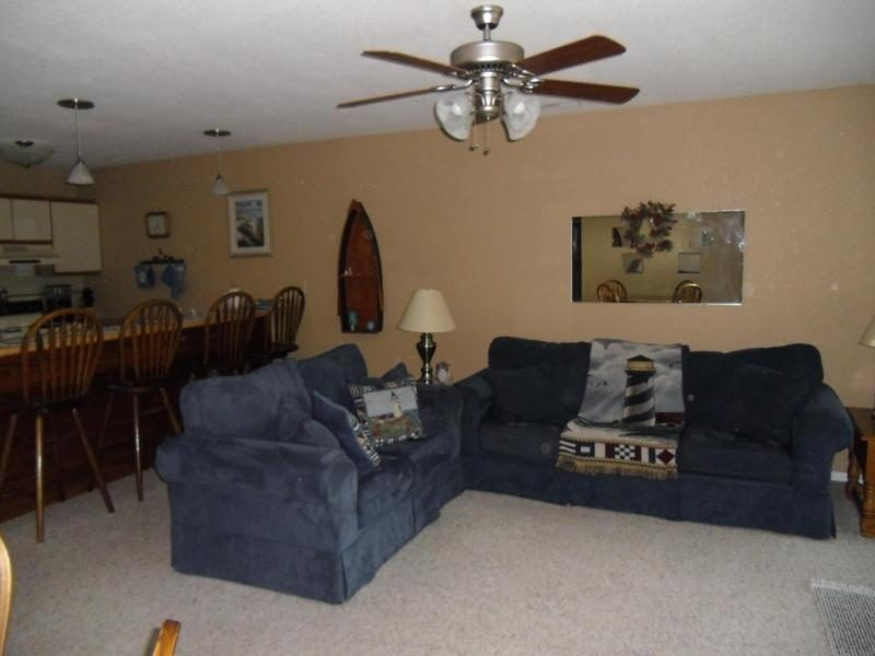 Living Room with new sleeper sofa and loveseat - Osage Beach/ Indian Pt Condo Check - availability! - Lake Ozark - rentals