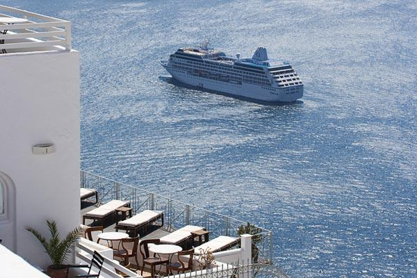 Luxury Santorin villa in the heart of Fira, steps from the city center. MED ATH - Image 1 - Santorini - rentals